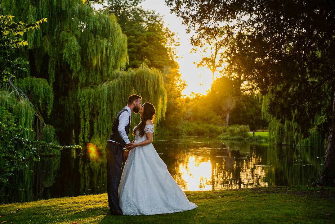 Sunset golden light portraits wedding photo ardington house