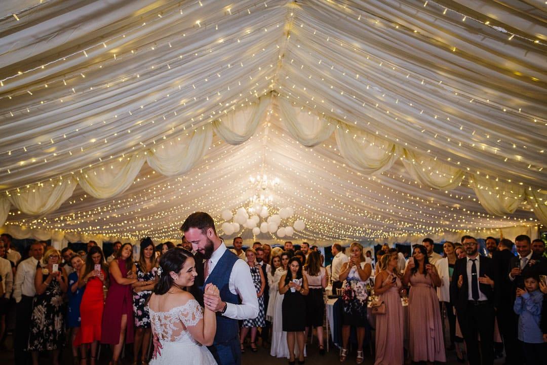 First dance party marquee ardington house wedding