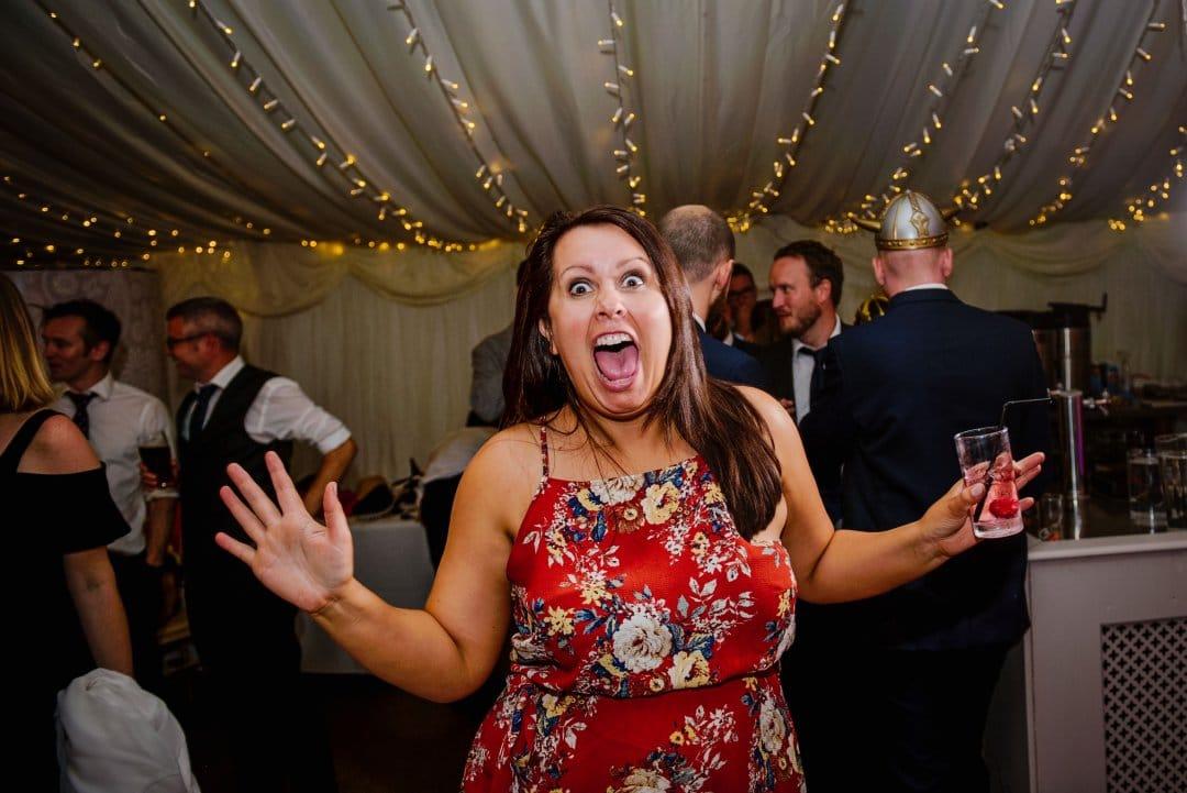 Dance party marquee Ardington house wedding