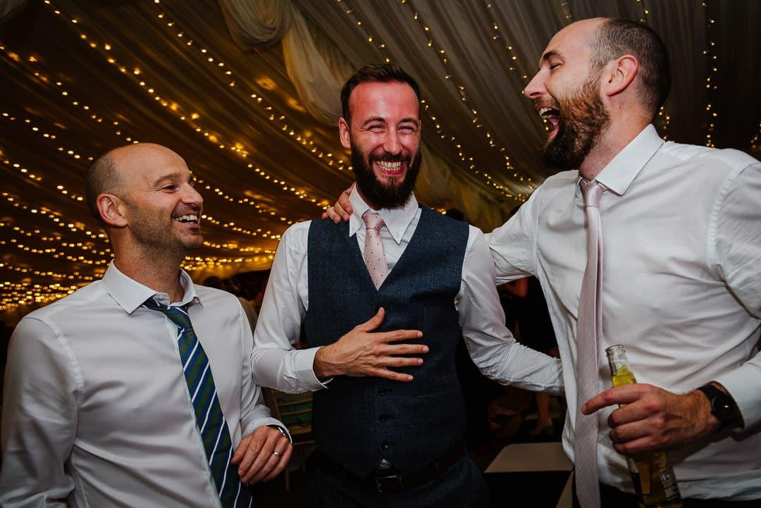 groomsmen party marquee Ardington House wedding