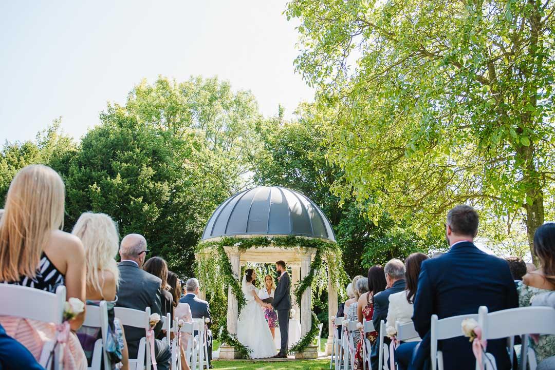 outdoor wedding photo ardington venue