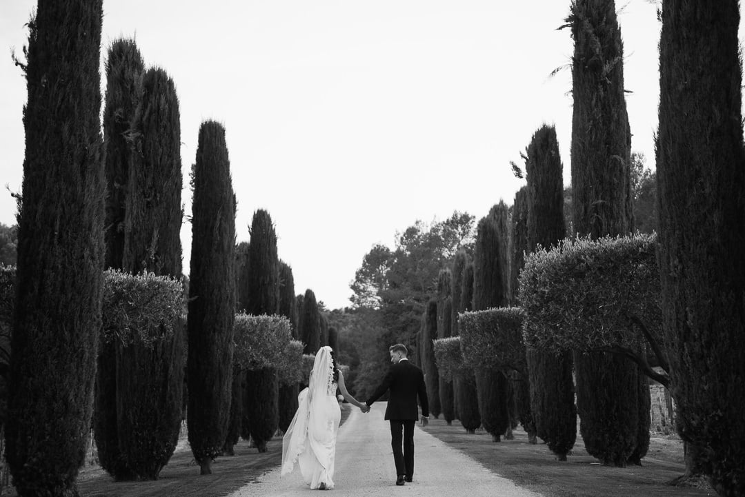 French vineyard reportage wedding photos