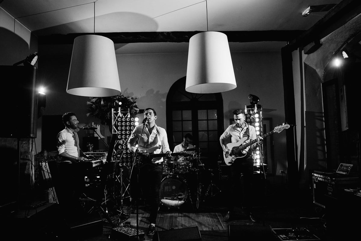 Wedding band Brightlights perform at boutique hotel in France