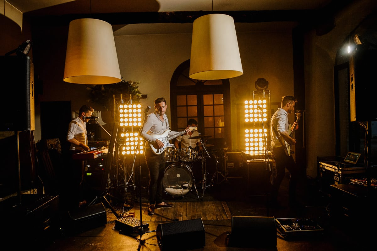 Brightlights band play at chateau les merles wedding photo