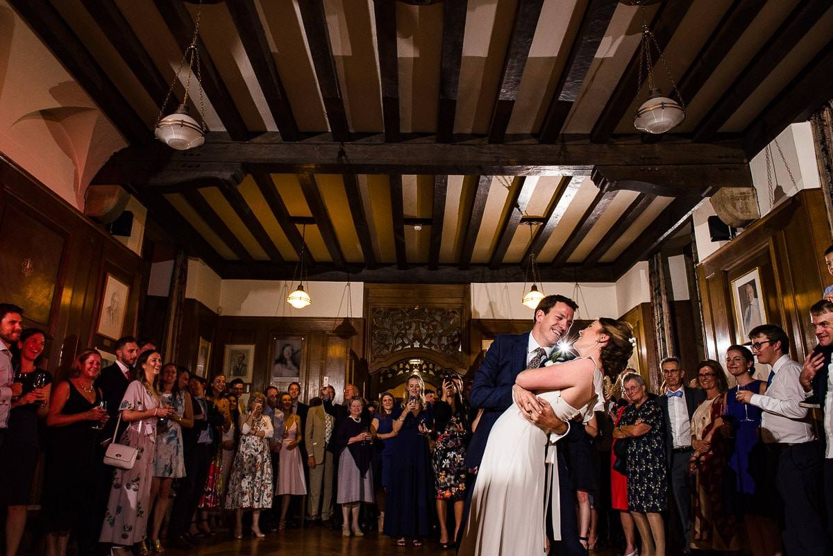 First dance at Rhodes House documentary wedding photo