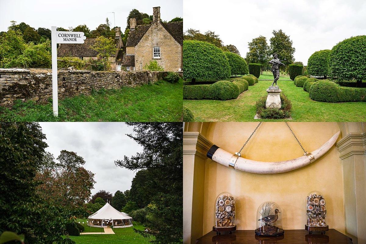 montage of Cornwell manor scenic locations