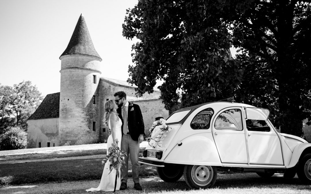 Chateau de la Bourlie Destination Wedding Photos