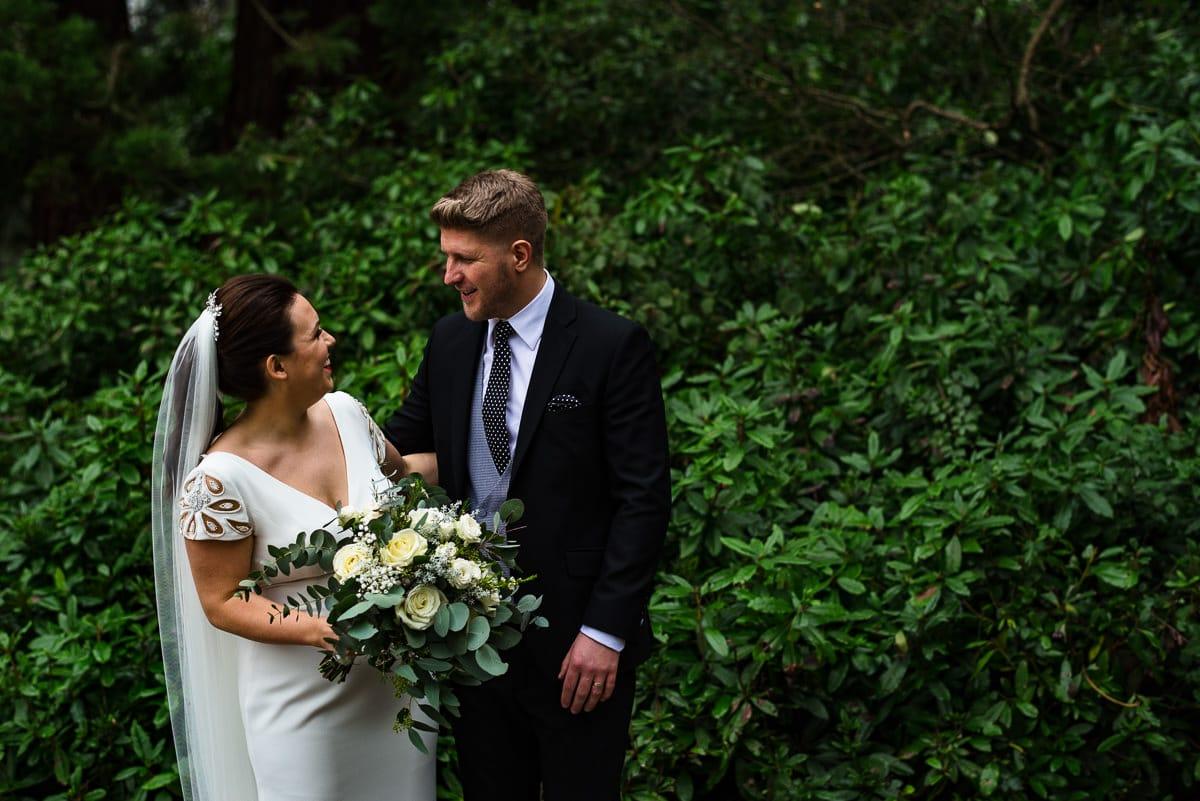 bride and groom Pronovias dress from Georgina Scott Bridal Hampton manor hotel