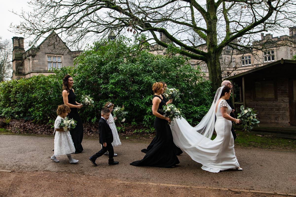 bridesmaids and bride Hampton Manor wedding photo
