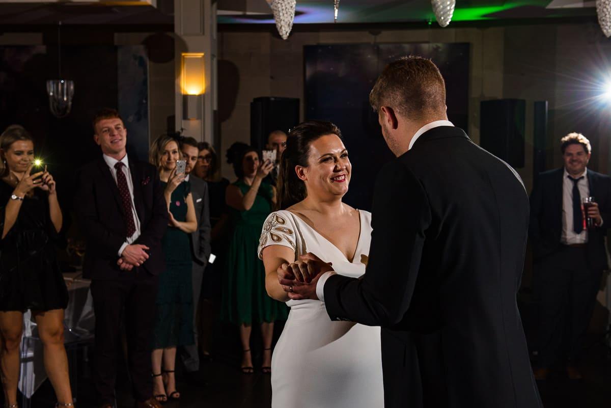 bride and groom first dance Hampton Manor wedding