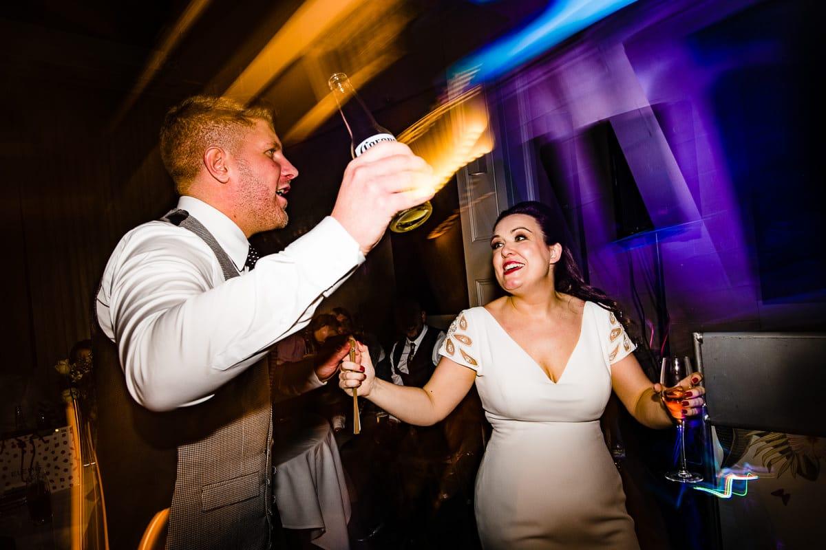 bride and groom celebrate dance floor Hampton Manor party