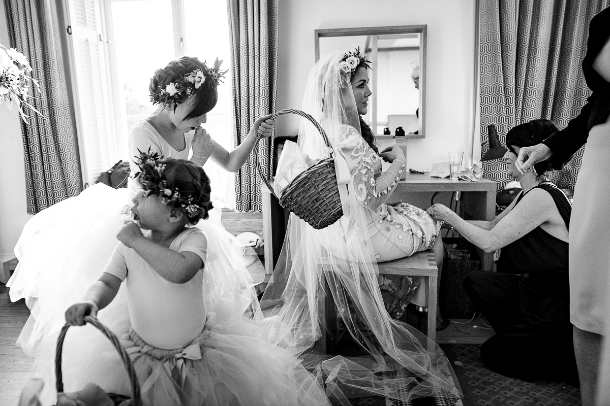 Cowley manor bridal suite prep photo