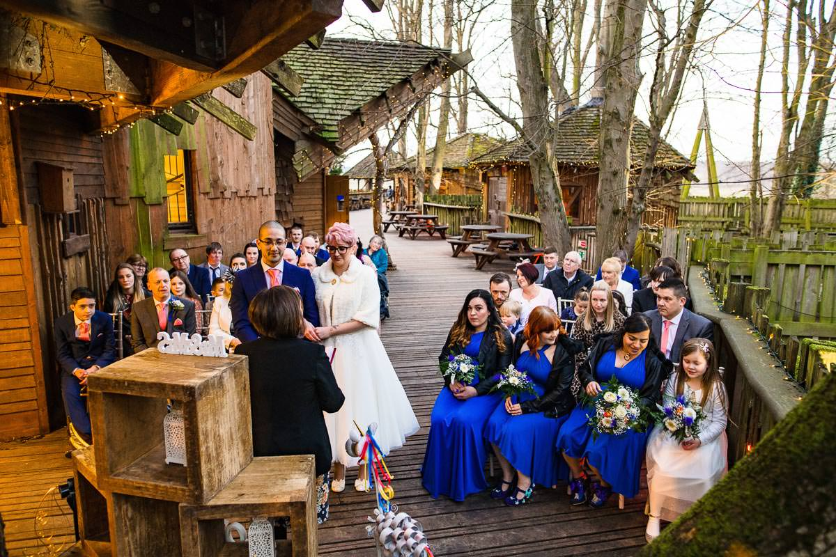 88Alnwick treehouse wedding photos Jonny Barratt Photography