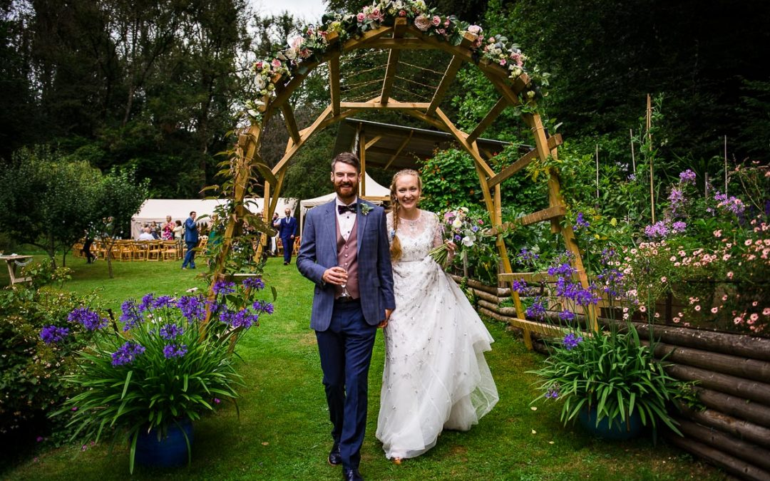 Becky & Paul | Colourful Cotswold Garden Wedding