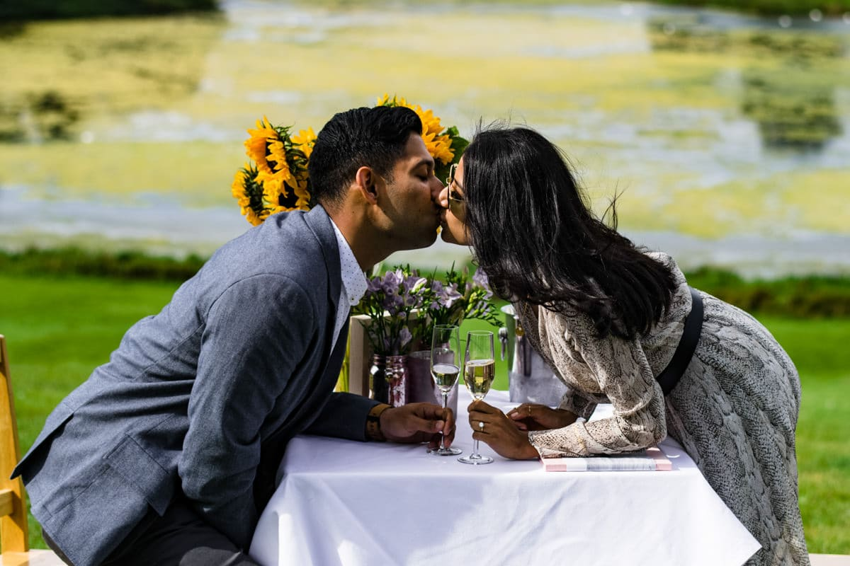 Blenheim palace surprise proposal couple engagement